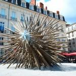Oeuvre de Vincent Mauger: alors, hérisson ou diodon? ^^(Mon voyage à Nantes)