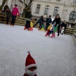 Un tour à la patinoire en plein air gratuite de Vannes (Noël 2014)