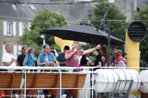 Ambiance sur l'Hydrograaf, port de Vannes (semaine du golfe 2019)