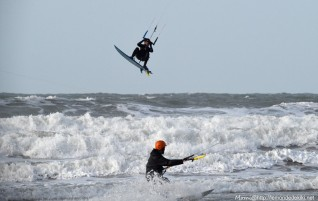 Le kite, vs les copains d'abord!