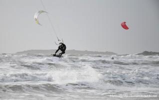 Ca kite… dans un froid de canard!