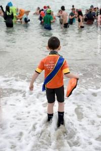 Mister SNSM du haut de ses 6 ans en surveillant de baignade  :D (Otaries de Rhuys 2017)