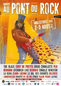 Affiche du Festival au Pont du Rock 2019, les 30 ans (tremplin du Festival au Pont du Rock 2019, Malestroit)