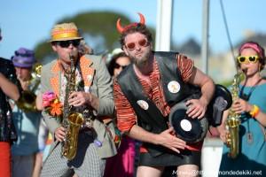 La fanfare Simili-Cuivres, Port Navalo (semaine du golfe 2019)