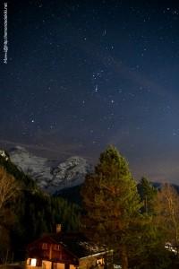 Nuit étoilée, sous la ceinture d'Orion (vacances Suisse, février 2020)